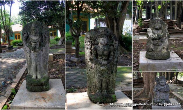 Koleksi patung di museum airlangga kediri