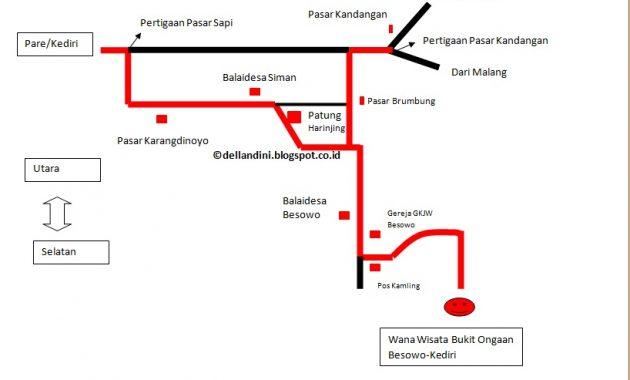Lokasi dan rute bukit kura-kura ongakan besowo kediri