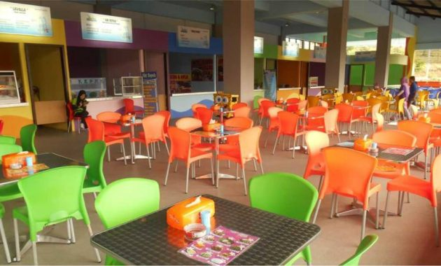 Fasilitas area makan waterpark kediri