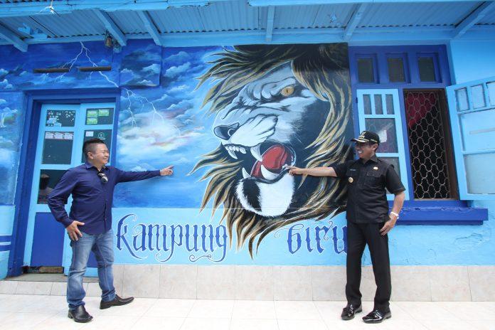 Alamat Wisata Kampung Biru Arema Malang