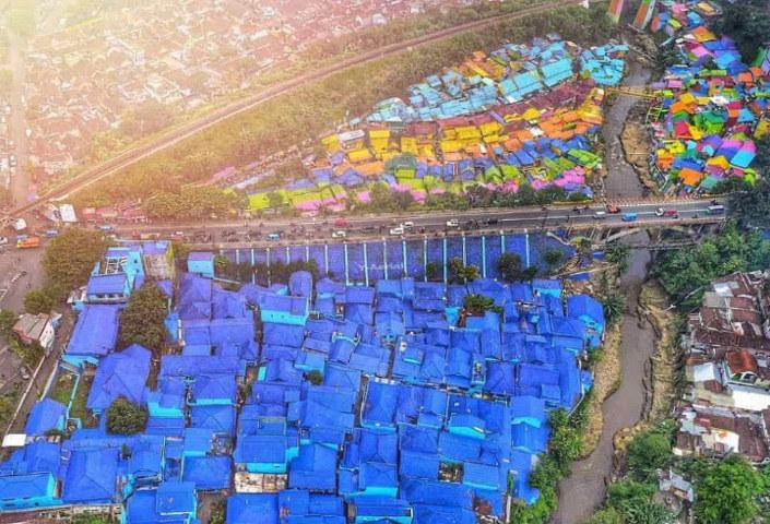Lokasi Wisata Kampung Biru Arema Malang