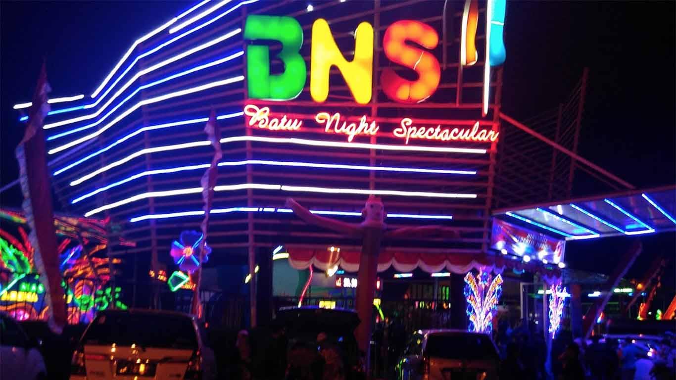Wisata malam malang batu night spectacular