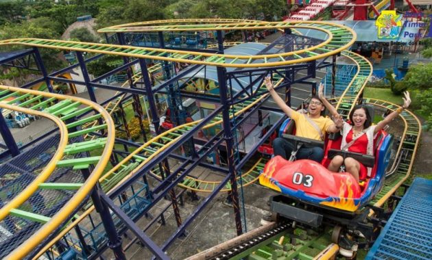 Wahana jatim park 1 malang spinig coaster