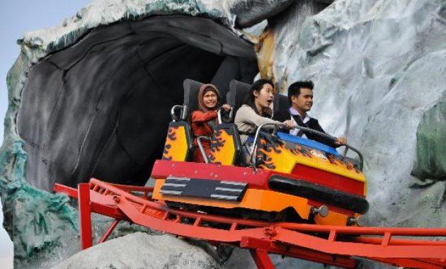 Wahana jatim park 1 malang volcano coaster